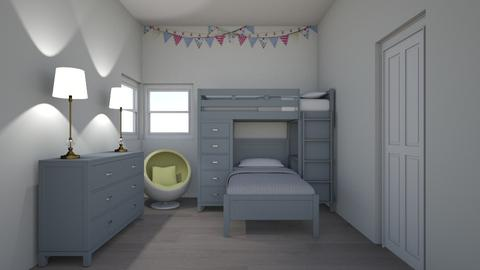 kids bunk - Bedroom - by erstudio