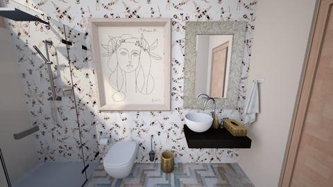 pink eclectic 6 - Bathroom - by abby_o