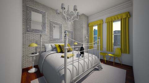 Bedroom in the City - Minimal - Bedroom - by erialc3000