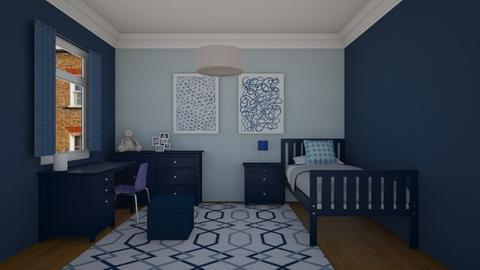 Blue in Blue - Minimal - Bedroom - by Cartell