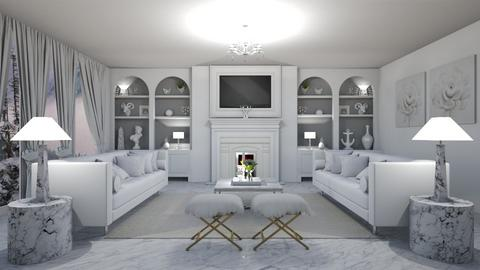 Sweet White - Living room - by creato
