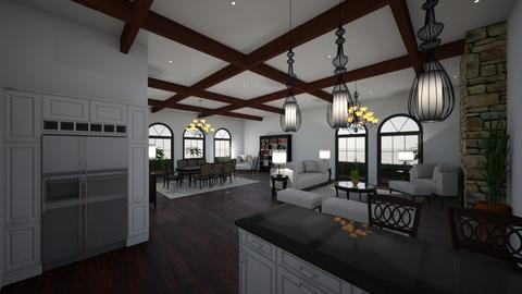 Santa Barbara open plan - Living room - by ejwinteriors