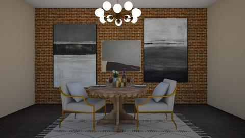 rustic romance  - Dining room - by Meredith Crummey