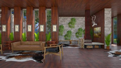 Forest Home - Country - Living room - by millerfam