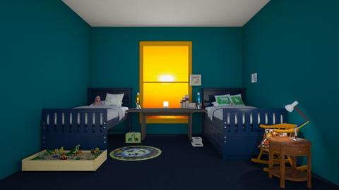 Mike and Max - Kids room - by strongsteadfast