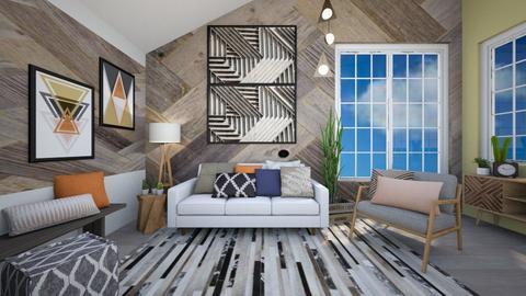 Geometric Living - Living room - by Rebekah Pincock