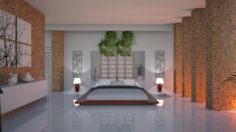 modern zen bedroom - by barnigondi