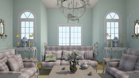 Tea time in Paris - Vintage - Living room - by sephara