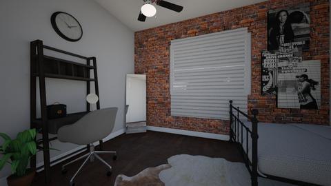 brick wall - Bedroom - by alparensie
