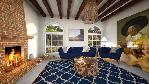 warm living room  - Living room - by TamarK