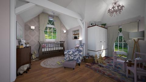 Attic Nursery - Kids room - by rachaelphillips636
