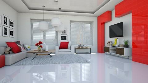 White w Red Modern - by jade61356