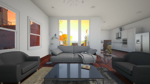 Lucky Wasted - Living room - by andiavie