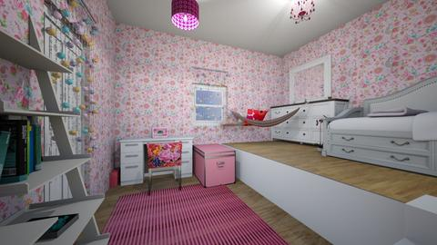 Pink Girly Room - Feminine - Bedroom - by Applestyler
