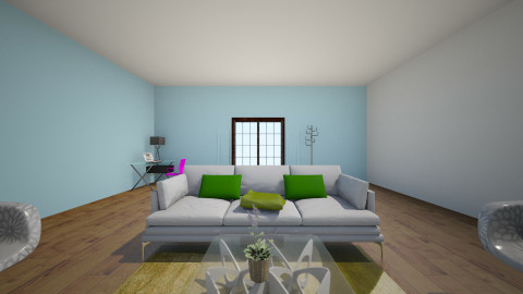 white and green - Modern - Living room - by shortie12345