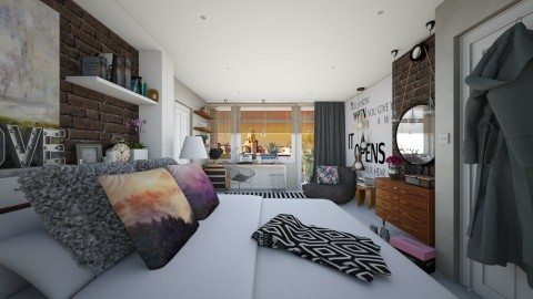 Bedroom redesign - Modern - Bedroom - by Sweety Sophie