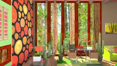 The Redwood room - Country - Living room - by armeen_hedayat