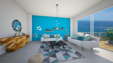 living room turquoise - by fatycuisine