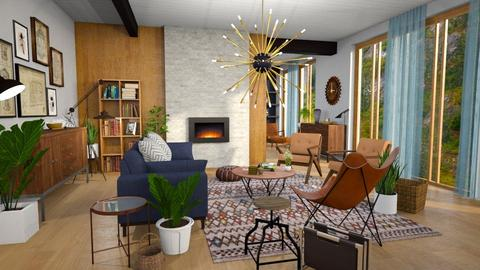 mid century fun living - Living room - by Moonpearl