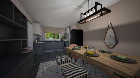 Chloe Kitchen Dining Room - by inkyminkinteriors