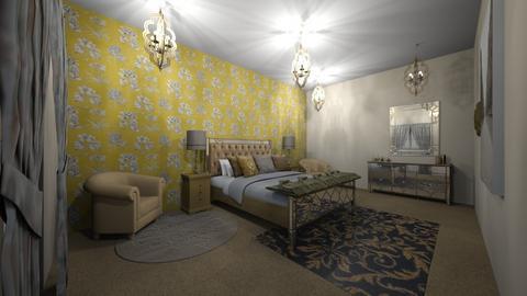 mustard bedroom - Bedroom - by saritac