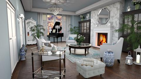 Mansion Living Room - by lydiaenderlebell