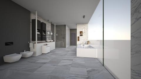 Mid Century Modern Bathro - Bathroom - by Vlad Silviu