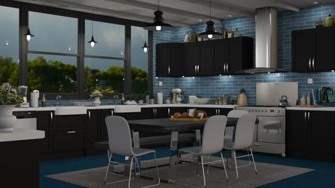 Blue Kitchen - Kitchen - by GraceKathryn