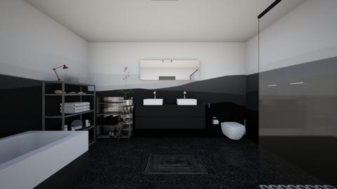 Monochrome Bathroom - Bathroom - by Psweets
