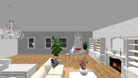 White Stone - Feminine - Living room - by Bear3