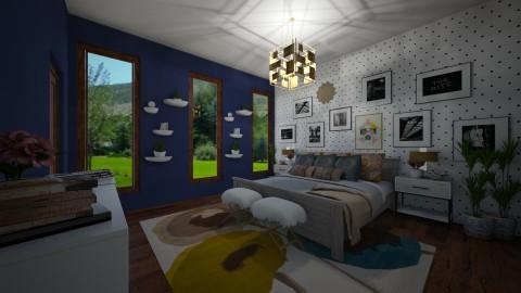 a boho bedroom - by PoukInteriors