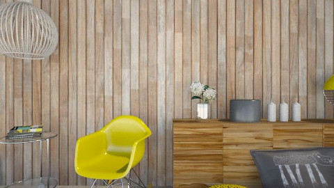 Yellow Wood Living Corner - Eclectic - Living room - by Maria Esteves de Oliveira