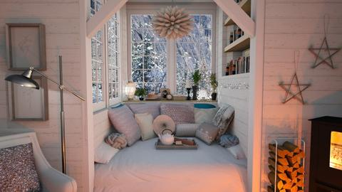 Winter Bedroom - Bedroom - by rachaelp636