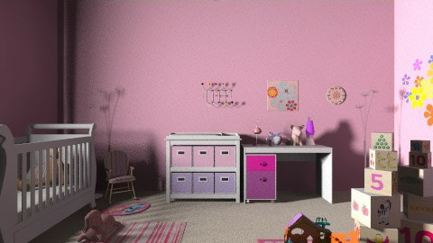 rosa - Feminine - Kids room - by Jen Guerra