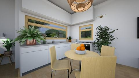 kitchen and dining room - Minimal - Kitchen - by Annika2005xx