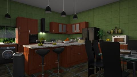 kitchen with bar - by ilcsi1860