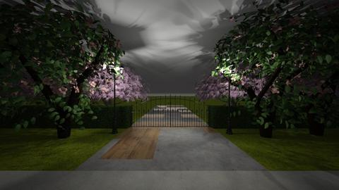 Gateway - Garden - by kathleenerinharvey