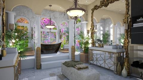 yellow bathroom - Bathroom - by multifaceted13