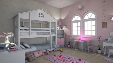 Girls Beauty - Kids room - by zenaalomran