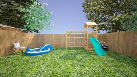 Backyard with Kid Pool - by josielz