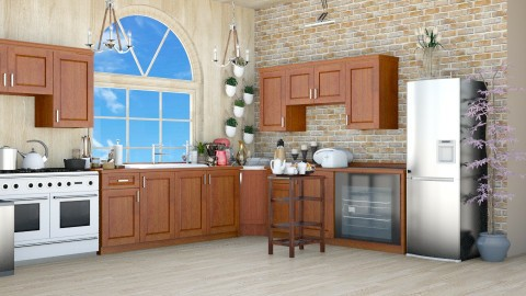 Kitchen 6 - Rustic - Kitchen - by Mrs  Asrar