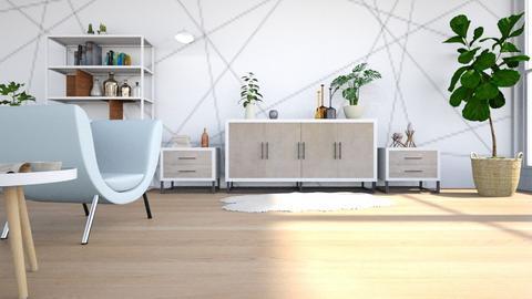 Messy Minimalist - Modern - Living room - by LeilaniD04