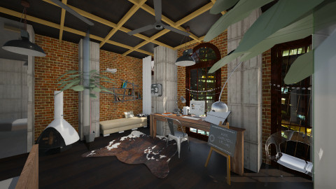 Indesk - Rustic - Office - by Catrina Lynne Bautista