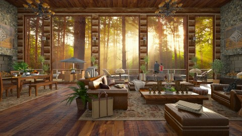 Design 300 Morning Glory - Living room - by Daisy320