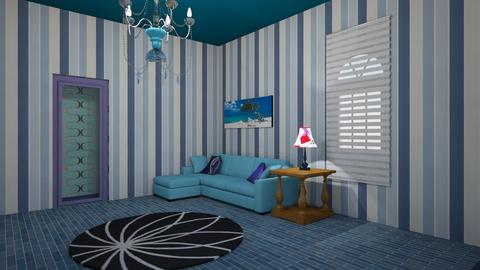 Blue - Living room - by strongsteadfast