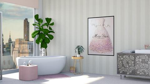 pink bathroom - by Lo89