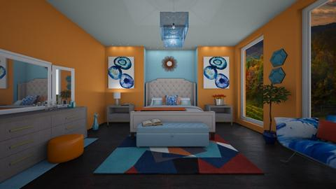 Blue is Orange - Bedroom - by zsjv1989gmailcom
