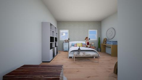 Future house 2nd floor - Bedroom - by carolinedecorates