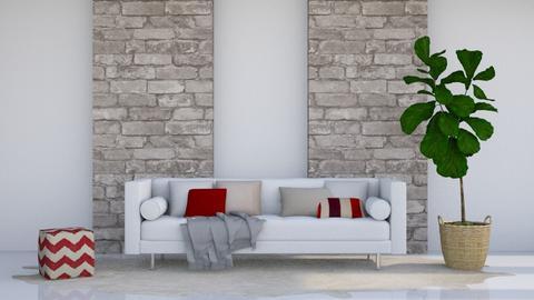 Red - Modern - Living room - by stephendesign