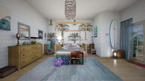 surf bedroom - Bedroom - by tigerlily_bel
